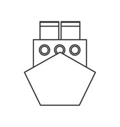 merchant container ship icon vector image