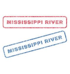 Mississippi river textile stamps vector