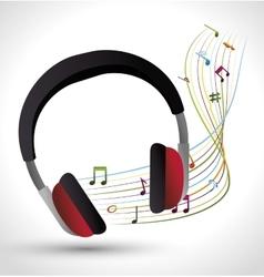 Music headphones isolated icon vector