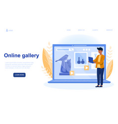 Online gallery a professional sculptor vector