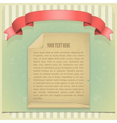 paper red ribbon vector image