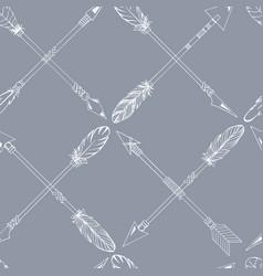 ribal indian seamless set arrows vector image