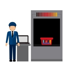 Security checkpoint design vector