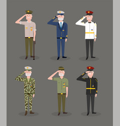 Set army forces celebrated national veterans day vector