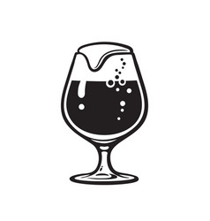 snifter beer glass hand drawn vector image