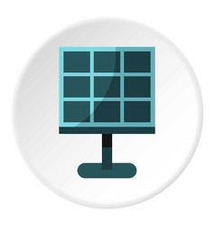 Solar battery icon circle vector