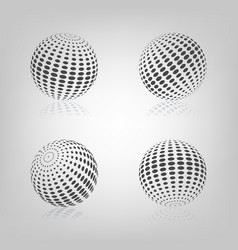 sphere with halftone fill vector image