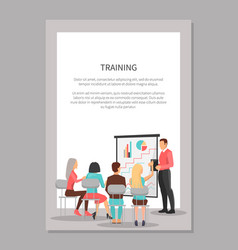 training poster with people at business meeting vector image