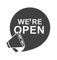 Were open megaphone marketing announce silhouette vector