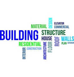 Word cloud building vector