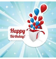 Birthday card with balloons vector