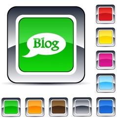blog square button vector image