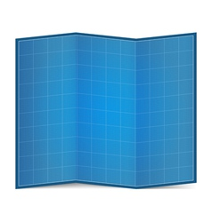 Folded Blueprint Paper vector image