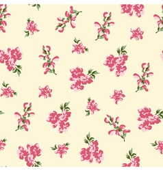 Retro floral seamless vector image vector image