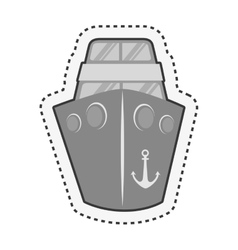 ship boat cruise isolated icon vector image vector image