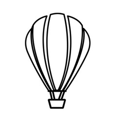 sketch contour hot air balloon icon vector image