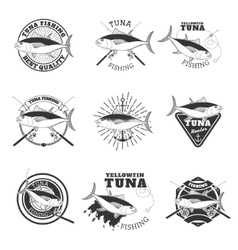 tuna fishing Design elements for fishing team vector image vector image