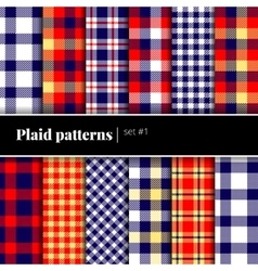Set of plaid patterns See also other sets vector image vector image