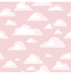 sky with clouds seamless pattern vector image