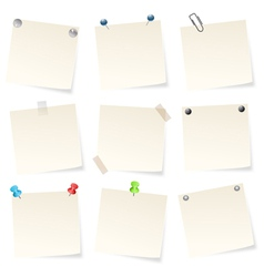 blank notepads vector image vector image