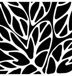Hand drawn pattern black and white vector image