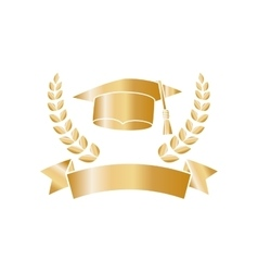Isolated graduation hat vector