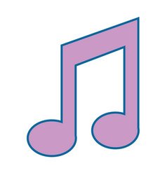 musical note icon vector image vector image