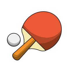 Ping pong racket ball sport vector