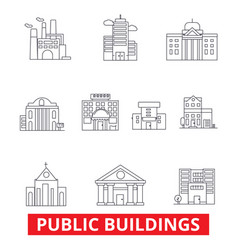 public institutional buildings commercial houses vector image