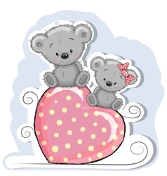 Two Cute Bears vector image vector image