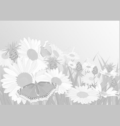 background made up of flowers and plants herbs vector image vector image