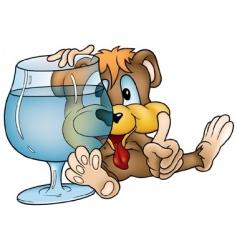 drinking bear vector image vector image