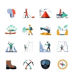 Expedition Icons Set vector image vector image