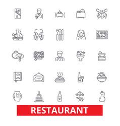 restaurant diner menu pub culinary bar vector image vector image