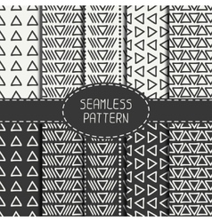Set of hand drawn geometric monochrome hipster vector image vector image