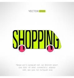 shopping bus symbol Marketing background vector image