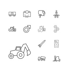 13 power icons vector