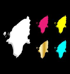 3d map of rhodes vector