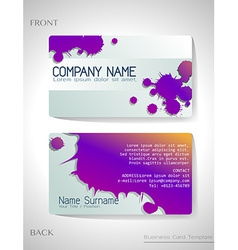 A grey and violet colored card vector image