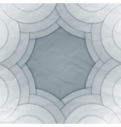 Abstract white and grey round shapes background vector image