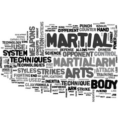 Advanced military technology in the martial arts vector