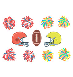 American football collection vector