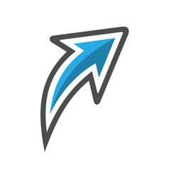 arrow curved icon vector image