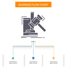 auction gavel hammer judgement law business flow vector image