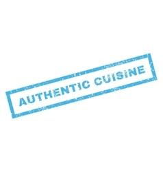 Authentic Cuisine Rubber Stamp vector
