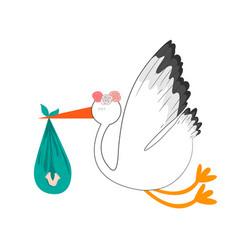 baby stork design vector image