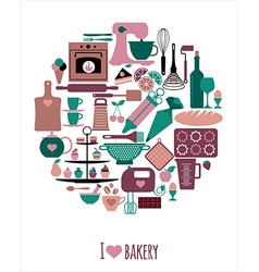 Bakery background vector