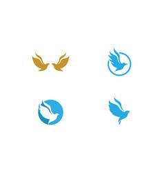 bird dove logo vector image