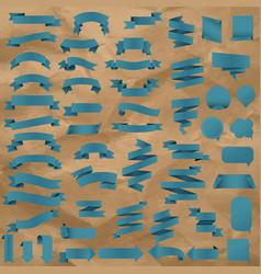 blue web ribbon set vector image