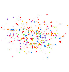 bright colorful confetti isolated on white vector image